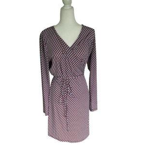 Fun Michael Kors Printed Wrap Dress